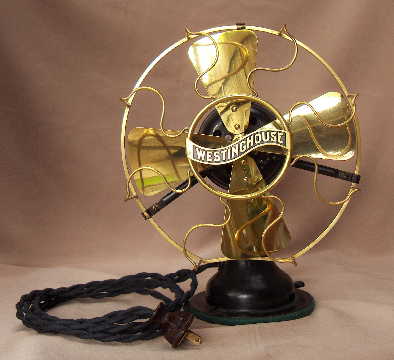 Westinghouse 8 Brass Blade Fan Circa 1912 Vintage Lighting And Pe