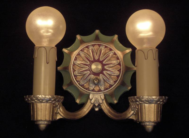 2 Arm Sconce Matches fixtures!