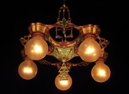 Lasalle 5 Bulb Hanging Fixture Vintage Lighting Fan Pe