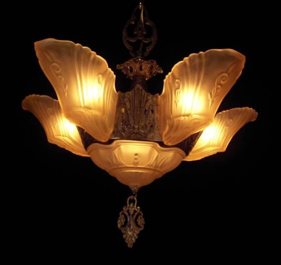 Markel 6 Bulb Diningroom Chandelier Vintage Lighting And