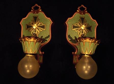 Rare Lasalle Drop Bulb Sconces