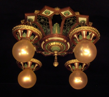 Isco 4 Bulb Art Nouveau Light Fixture