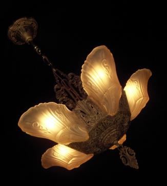 Markel slip shade chandelier vintage lighting and fan shoppe aloadofball Gallery